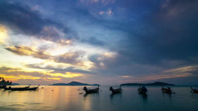 Incredible Sunrise timelapse over the Phuket island skyline and the Andaman sea, Thailand 2016.