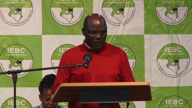 Independent Electoral and Boundaries Commission Chairman Wafula Chebukati says vote tallying is still ongoing after the country's deeply divisive re...