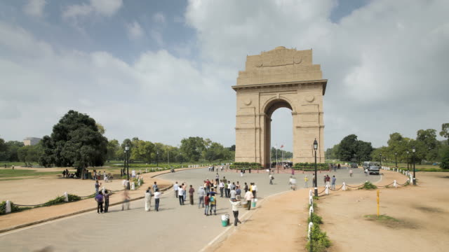India Gate, the 42 metre high India Gate is at the eastern end of Rajpath, Delhi, India