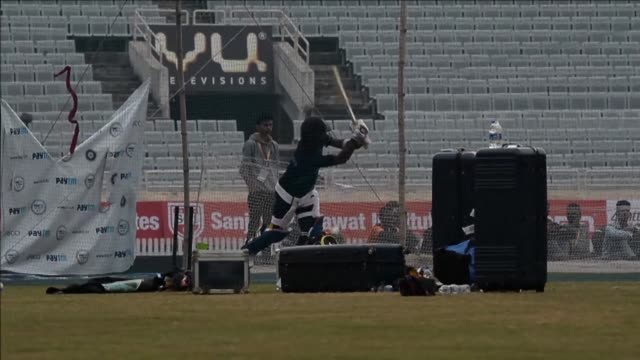 Indian and Sri Lankan cricketers practice on the eve of their second T20 match