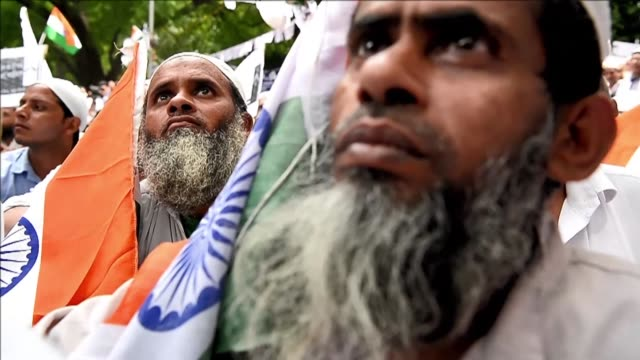 Indian protesters call for unity across the nation in a bid to counter rising cases of alleged religious hate crimes intolerance and mob lynchings