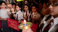 Indian school children held a vigil Monday to pray for the victims who died in the massive earthquake that hit Nepal and the surrounding region on...
