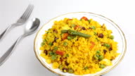 Indian Snack called Poha or Chivda popular breakfast