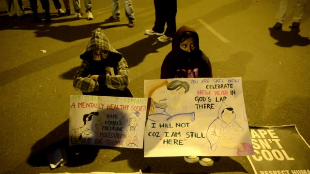 Indian students shout anti government to protest a gang rape and murder of a 23 year old student from Singapore in New Delhi on December 31 2012...