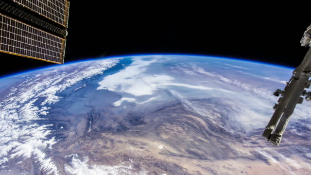 Indian Subcontinent from Space - Timelapse