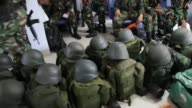 Indonesian Millitary sent troops to Aceh to help search and rescue victim of Earth Quake at PidieAceh on December 8 2016 One of the troops that sent...