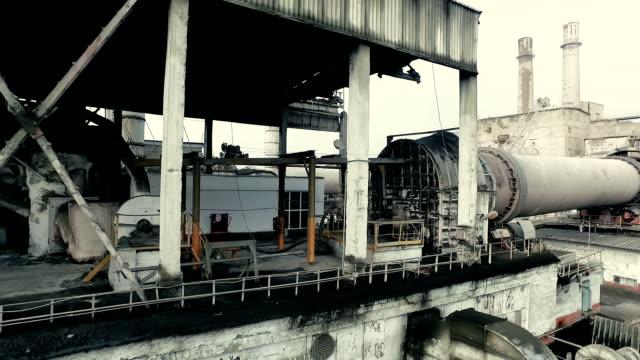 Industriegebiet. Teil der funktionierende Rotierender Ofen