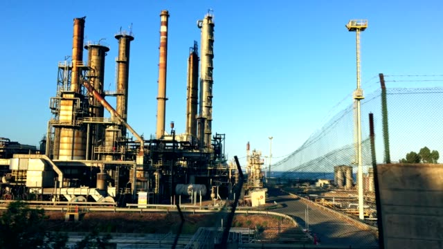 Industrial buildings. Refinery