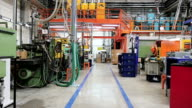 Industrial corridor in production line