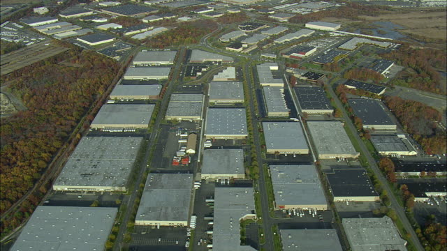 AERIAL WS Industrial Estate near Keasbey / New Jersey, USA