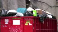 Industrial Garbage Bin. Construction waste. Dumpster.