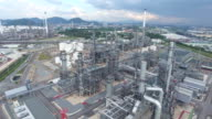 Industrial processing of natural gas.