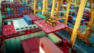 Industriale nave merci di importazione