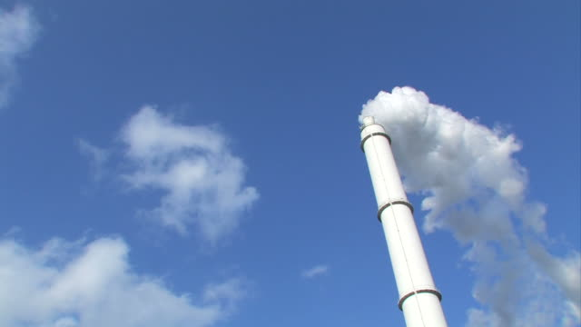 Industrial steam smokestack