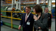 John Hayes visits Department of Engineering University of Lincoln ENGLAND Lincolnshire Lincoln INT Various shots of John Hayes MP and others touring...
