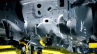 Industrie Roboter, die Montage Wagen