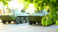 infantry fighting vehicle on the streets