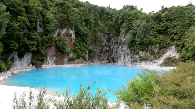 Inferno Crater in Waimangu Thermal park, New Zealand