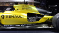 Infiniti Hybrid yellow racing car The CIAS event is dedicated to Canada's 150th Anniversary