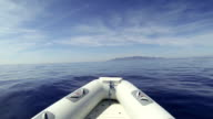 Inflatable Boat at sea