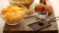 CU PAN Ingredient for macaroni cheese / London, UK