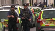 11 injured after car hits pedestrians near Natural History Museum ENGLAND London South Kensington Police officers and emergency vehicles at scene...