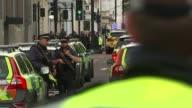 11 injured after car hits pedestrians near Natural History Museum ENGLAND London South Kensington EXT Injured woman wheeled along by paramedic...