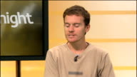 Injured cyclist helped by helped by internet delivery truck ENGLAND London GIR INT Andrew Knight STUDIO interview SOT