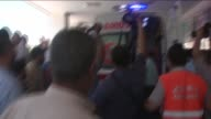 Injured people after the explosion targeting a cultural center in Suruc district of Sanliurfa were taken to hospitals Turkey on 20 July 2015 At least...
