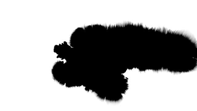 Tinte Splat Serie-Schwarz auf Weiß