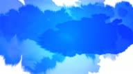 Tinte Splat Serie-blau auf weißem & Schwarz