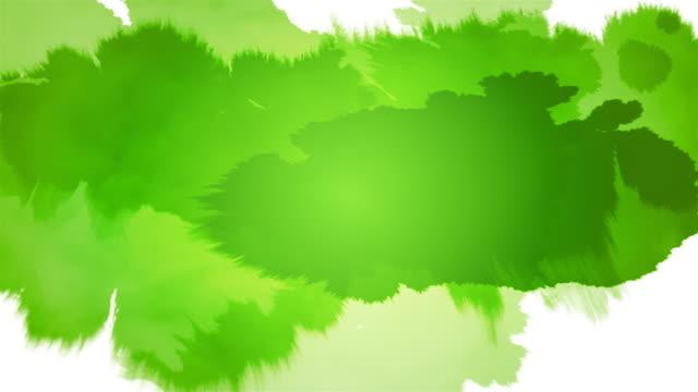 Tinte Splat Serie-Grün auf Schwarz Weiß &