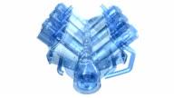 in line Sechs Zylinder diesel-Motor, rotierende, High-Speed