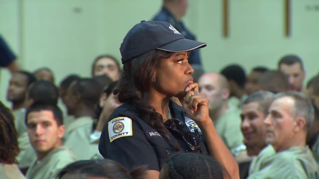 Inmates at the Cook County Jail watched 'Othello The Remix' performed by the The Chicago Shakespeare Theater Female Corrections Officer At Cook...