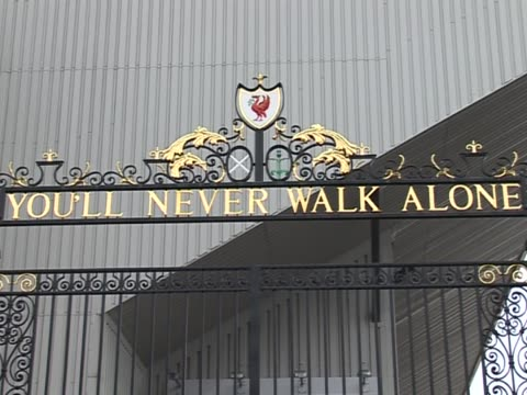 inmcluding the entrance to 'The Kop' Bill Shankly Memorial the Hillsborough Memorial and the famous gates to Anfield with the words 'You'll Never...