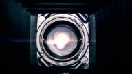 Inside a vintage camera