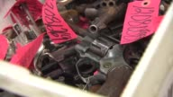 Inside Chicago Police Department's Evidence And Recovery Gun Vault Confiscated Handguns In Police Evidence Vault on September 23 2013 in Chicago...