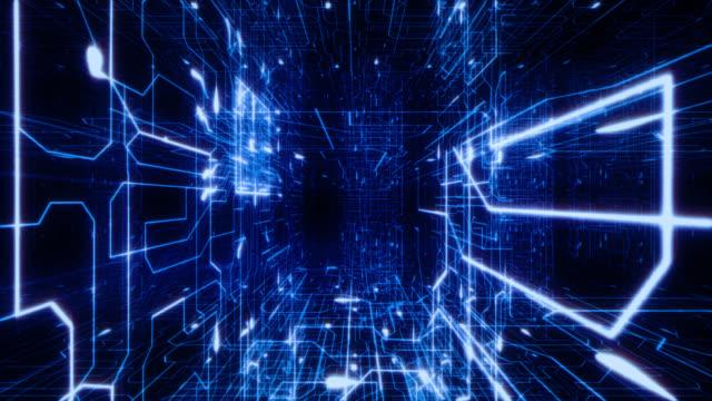 Neon Circuits Wallpaper And Background Image: À Lintérieur Circuits En Boucle Bleu Arrièreplans