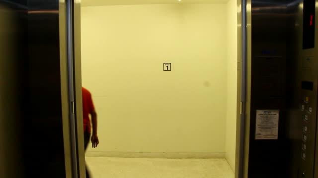 elevator doors inside. inside elevator and doors open