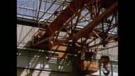 MONTAGE Inside factory producing heavy electrical machinery in Bhopal / India