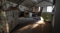 Inside of a barn in a farm, Victoria.