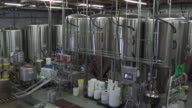 Inside of a brewery
