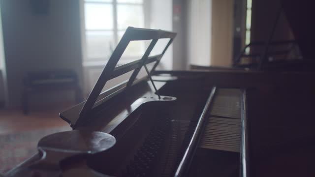 Binnenkant van de piano
