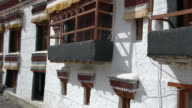 Inside of the Rizong Buddhist Monastery Complex in Ladakh, India