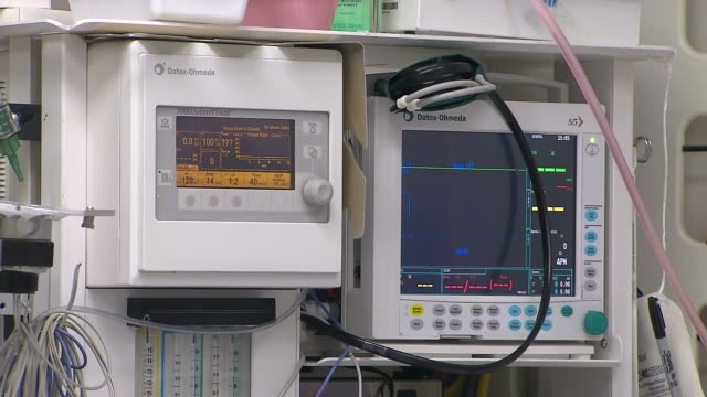 Inside St Peter's University Hospital Pediatrics Anesthesia Monitoring Machines in Surgery Room on December 16 2013 in New Brunswick New Jersey