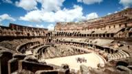 Inside the Coliseum of Rome Timelapse