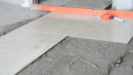 Installing Tiles floor