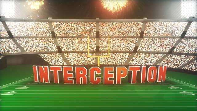 Interception! Football Animation With Alpha