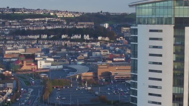 view from Swansea WALES Swansea Swansea city centre ***GRAPHIC GevauxRoss family seated in living room Daniel GevauxRoss interview SOT