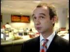 London The City INT Adam Cole interview SOT Talks of growth forecast falling further
